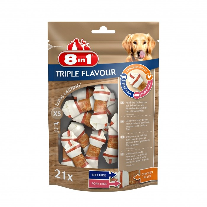 Os à mâcher Triple Flavour 8in1
