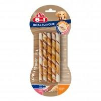 Friandise à mâcher pour chien - Stick à mâcher Triple Flavour 8in1