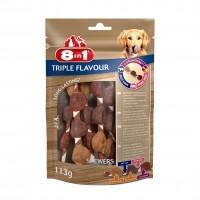 Friandises à mâcher pour chien - Brosse à dents doigtier 8in1
