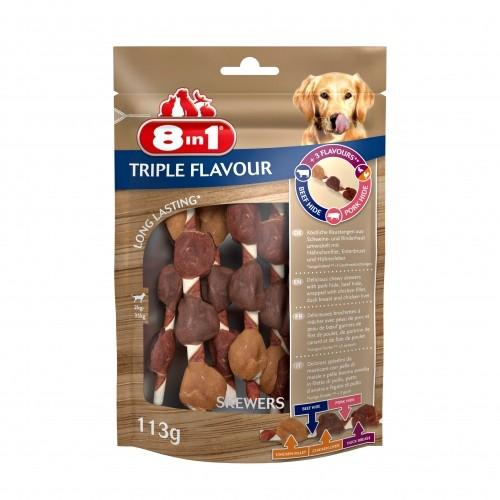 Friandise & complément - Brochettes Triple Flavour pour chiens