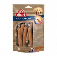 Friandises à mâcher pour chien - Travers de porc Triple Flavour 8in1