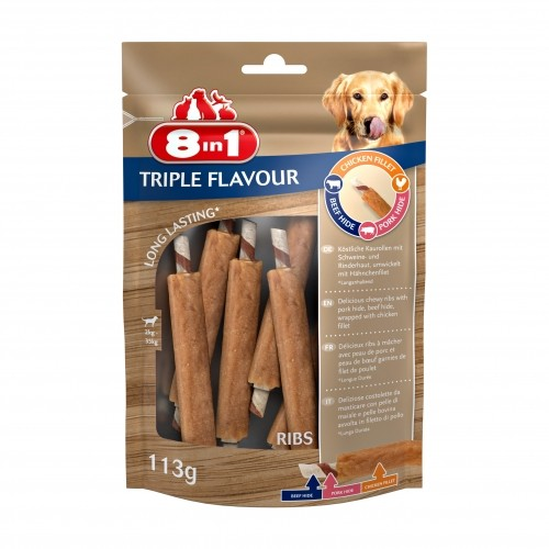 Friandise & complément - Travers de porc Triple Flavour pour chiens
