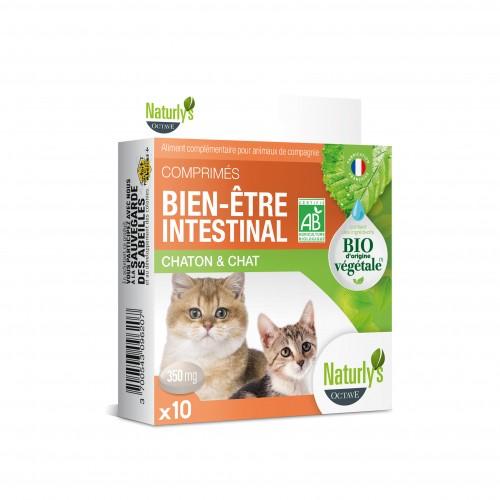 Friandise & complément - Comprimés Bio Bien-être intestinal pour chats