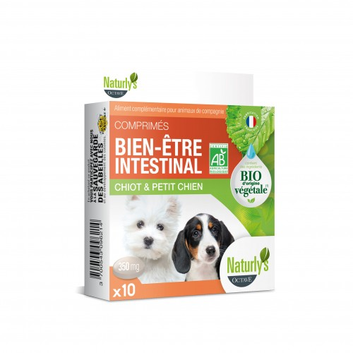 Friandise & complément - Comprimés Bio Bien-être intestinal pour chiens