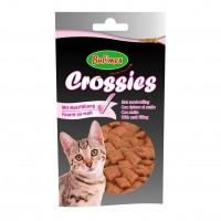 Friandises pour chat - Crossies, friandises au malt pour limiter la formation des boules de poils Bubimex