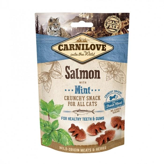 Sélection Noël - Crunchy Snack - Saumon et menthe pour chats