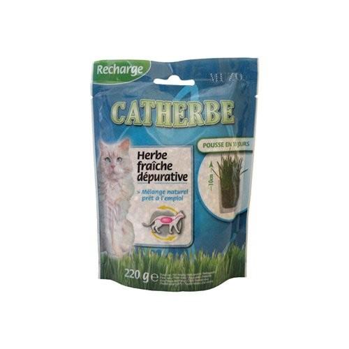 Friandise & complément - Herbe à chat dépurative Catherbe pour chats