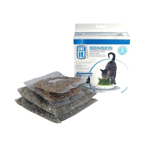 Friandise & complément - Recharges d'herbe à chat Senses pour chats