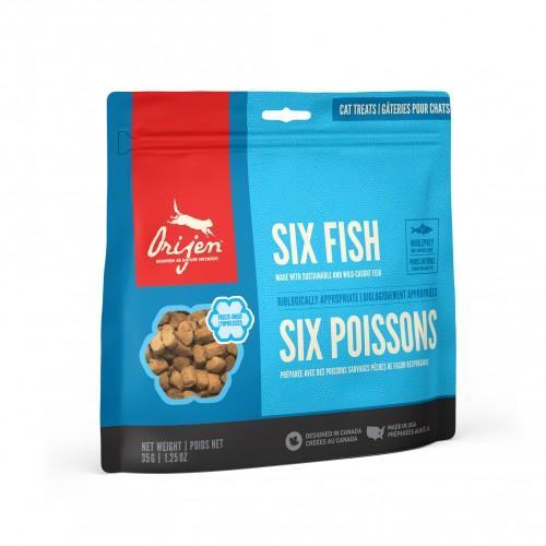 Friandise & complément - Six Fish Treats pour chats