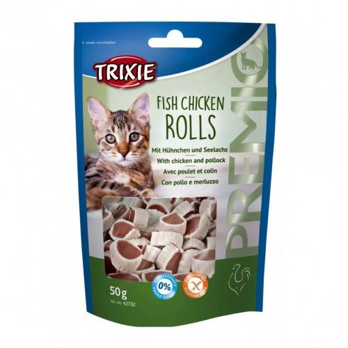 Friandise & complément - Premio Fish Chicken Rolls pour chats