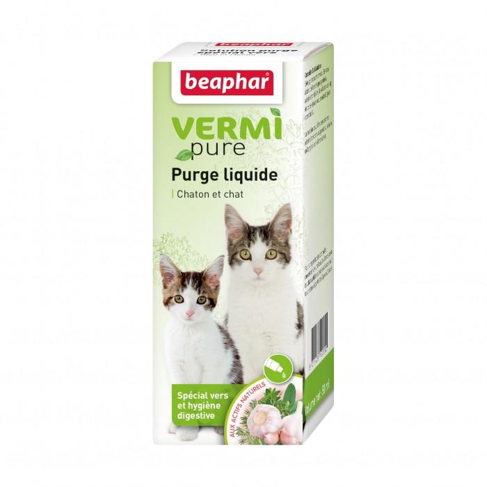 Friandise & complément - Vermipure purge liquide pour chat pour chats