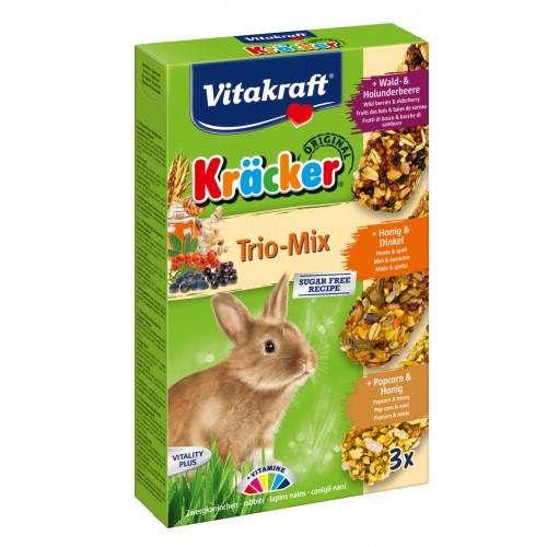 Friandise et complément  - Kräcker Trio-Mix lapins nains pour rongeurs