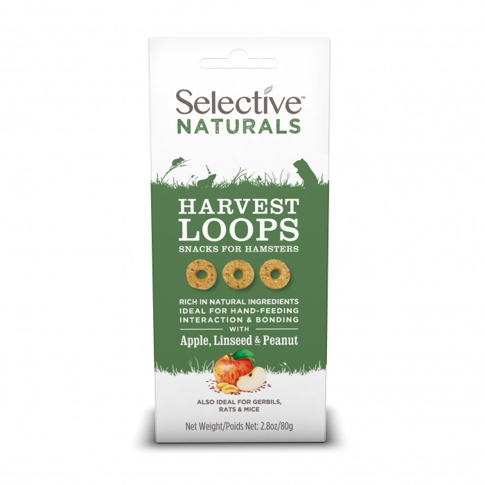 Friandise et complément  - Harvest Loops Selective Naturals pour rongeurs