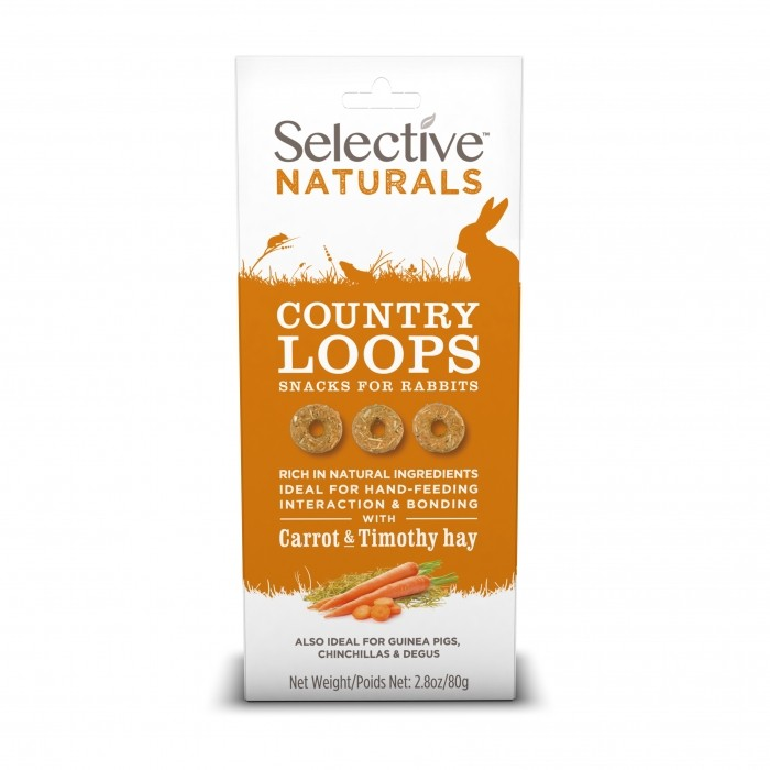Friandise et complément  - Country Loops Selective Naturals pour rongeurs