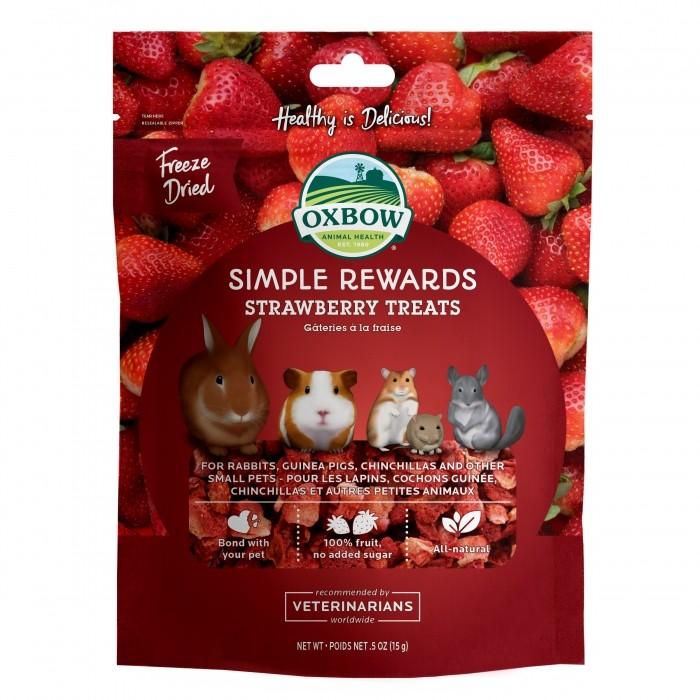 Friandise et complément  - Simple Rewards Strawberry Treats pour rongeurs