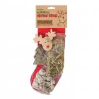 Friandise pour rongeurs et lapins - Chaussette de Noël Rosewood