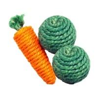 Jouet pour rongeur - Trio de légumes Happy Pet