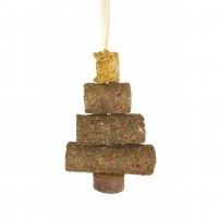 Friandise pour lapins et rongeurs - Arbre de Noël en foin Rosewood