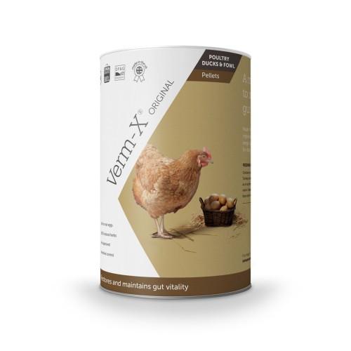 Friandise et complément poule - Verm-X Poules - Hygiène intestinale (granules) pour poules