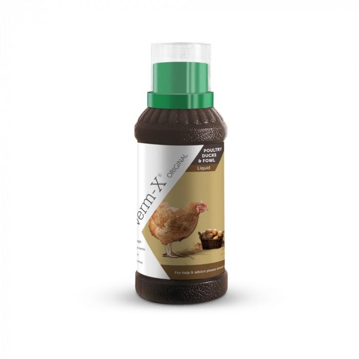 Friandise et complément poule - Verm-X Poules - Hygiène intestinale (solution liquide) pour poules