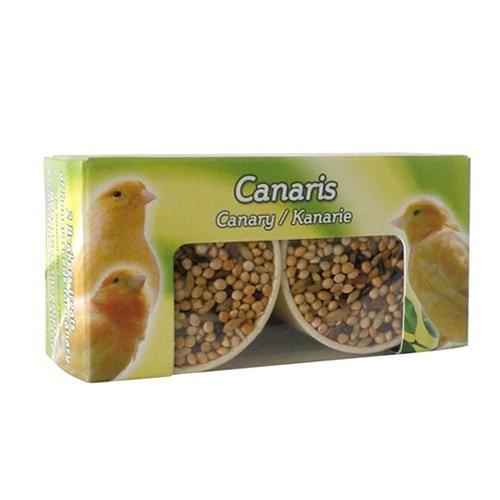 Bien-être au naturel - Godets de graines au miel pour canaris pour oiseaux