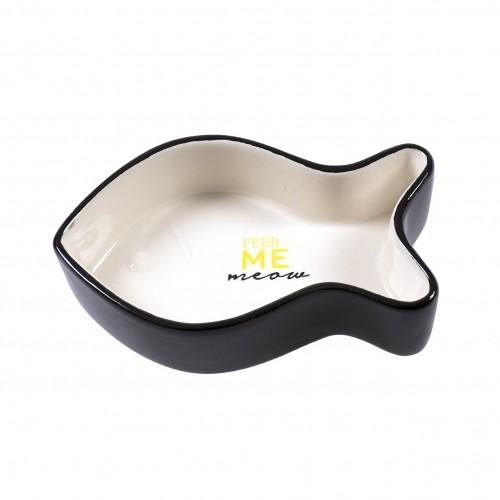 Boutique chaton - Gamelle Poisson Feed Me Meow pour chats