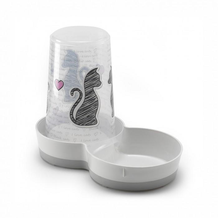Gamelle, distributeur & fontaine - Distributeur Cats in Love pour chats