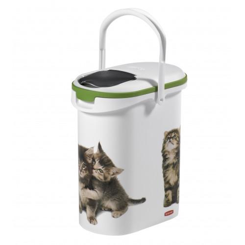 Accessoire repas pour chat - Boîte à croquettes Petlife 4kg Curver