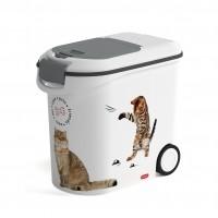 Conteneur à croquettes pour chat - Container à croquettes Love Cats à roulettes Curver