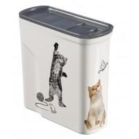 Accessoires repas pour chat - Boîte à croquettes Easy Open  Curver