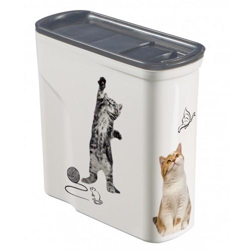 Gamelle, distributeur & fontaine - Boîte à croquettes Easy Open  pour chats