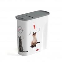 Conteneur à croquettes pour chat - Verseuse à croquettes Love Cats Curver