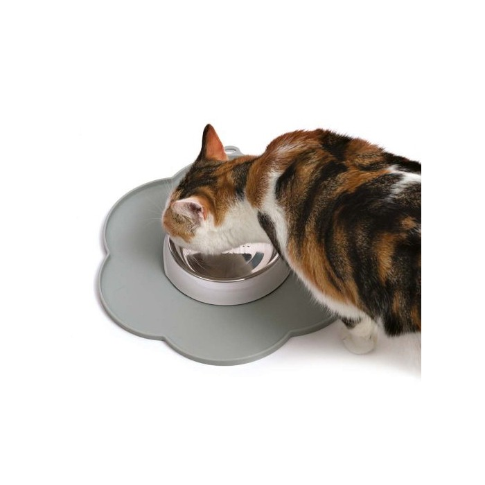 Gamelle, distributeur & fontaine - Set de table Flower pour chats