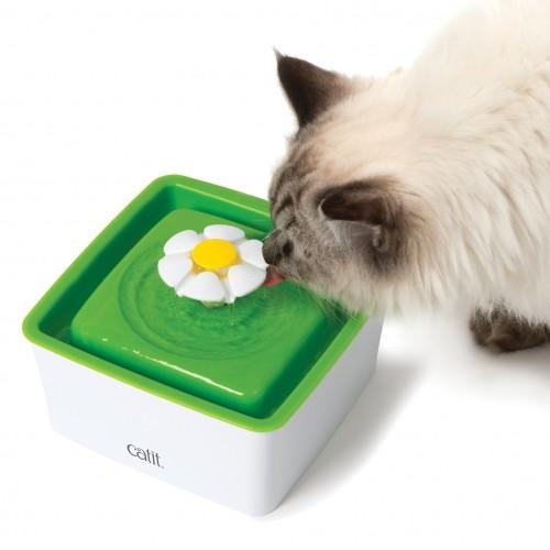 Gamelle, distributeur & fontaine - Fontaine Mini Flower 1,5L pour chats
