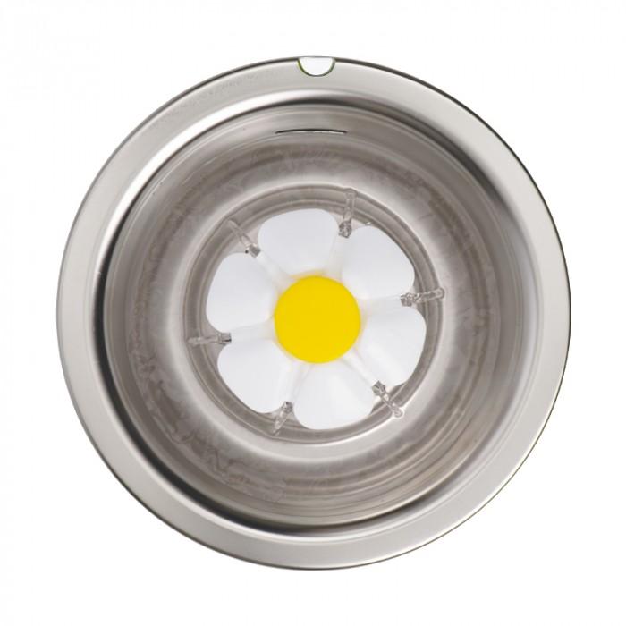 Gamelle, distributeur & fontaine - Fontaine Flower à LED Inox 3L pour chats