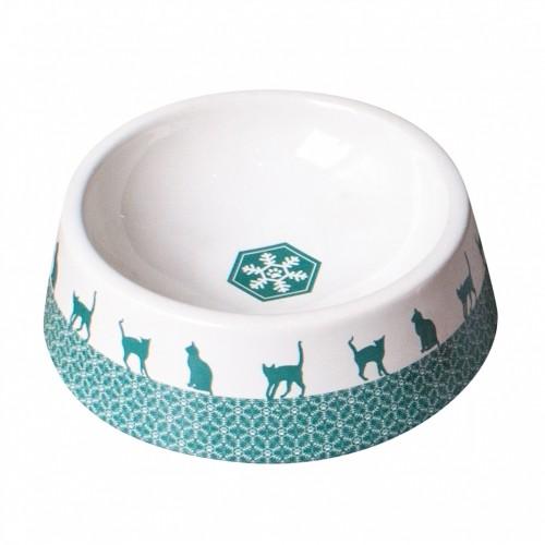 Gamelle, distributeur & fontaine - Gamelle Flocon chat en céramique pour chats
