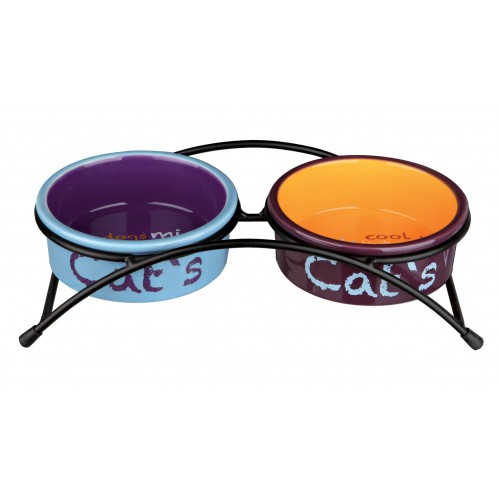Gamelle, distributeur & fontaine - Gamelle double Eat on feet pour chats