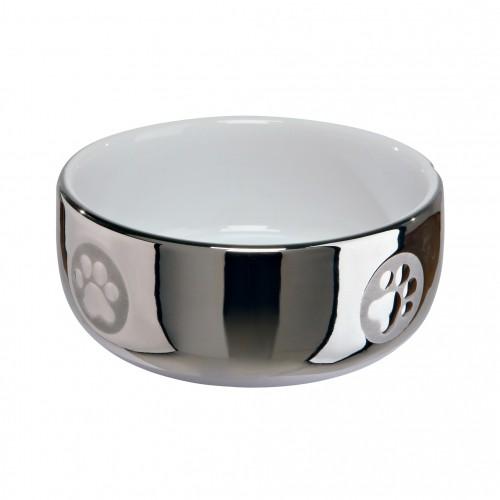 Gamelle, distributeur & fontaine - Gamelle Argentée en céramique pour chats