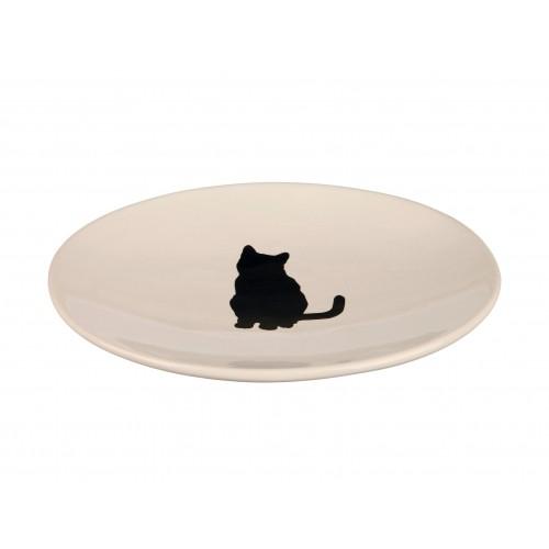Gamelle, distributeur & fontaine - Assiette Féline pour chats