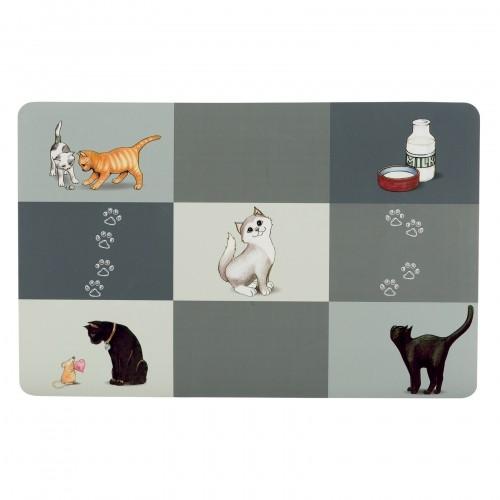 Gamelle, distributeur & fontaine - Set de table Patchwork pour chats