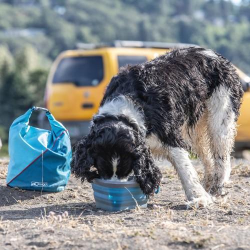 Gamelle et distributeur - Sac de transport pour croquettes pour chiens