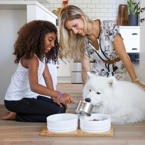 Gamelle et distributeur - Gamelle double Bamboo pour chiens