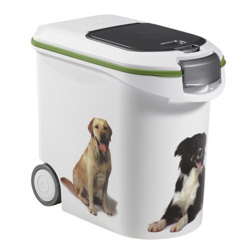 Accessoire repas pour chien - Grande boîte à croquettes Petlife Curver