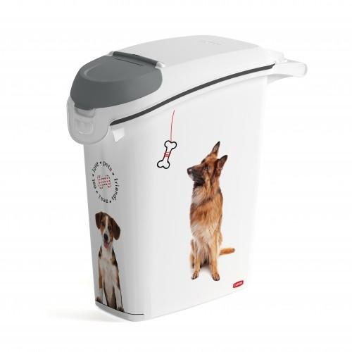 Gamelle et distributeur - Conteneur à croquettes Love Dogs avec bec verseur pour chiens