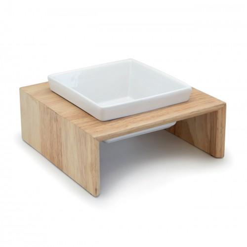Gamelle et distributeur - Gamelle en bois Gourmet Dinner - Simple pour chiens