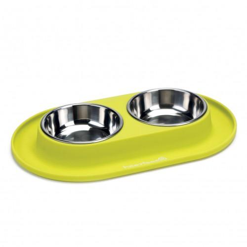 Gamelle et distributeur - Gamelle double Dinerset pour chiens