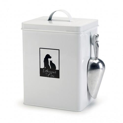 Gamelle et distributeur - Boîte à croquette en métal pour chiens