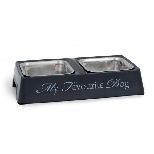 Gamelle et distributeur - Gamelle double My Favourite Dog pour chiens