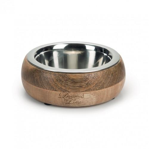 Gamelle et distributeur - Gamelle Mandira en bois pour chiens