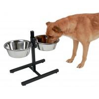 Gamelle double pour chien - Bar à gamelles Ingenio Kerbl